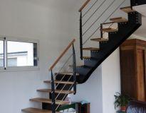 Escalier limon composite poteaux métal