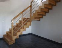 escalier chêne limon en