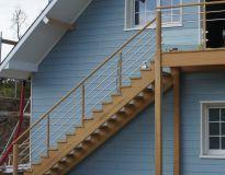 Escalier extérieur iroko
