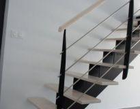 Escalier limon composite et frêne blanchi