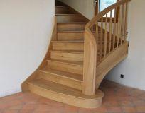Escalier 2/4 tournant en Chêne