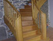 Escalier 1/4 tournant débillardé