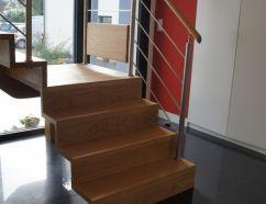 Escalier autoporté chêne