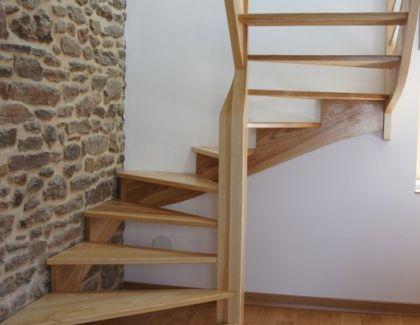 escalier contemporain et moderne bois et m tal sur mesure bretagne. Black Bedroom Furniture Sets. Home Design Ideas