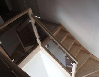 Escalier avec Verre Bronze